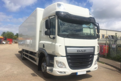 DAF CF 220 Euro 6 Twin Sleeper Box Van Vehicle with Tail Lift 18,000kg GVW