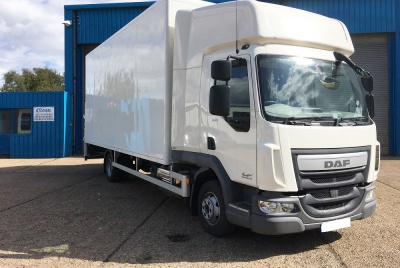 DAF LF Euro 6 High-Roof Twin Sleeper Cab Box Van Vehicle with Tail Lift 7,500kg GVW