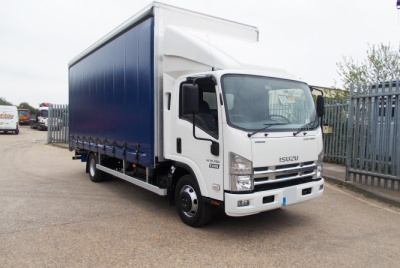 Isuzu N75 Euro 6 Day Cab Curtainsided Vehicle with Tail Lift 7,500kg GVW
