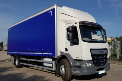 DAF LF 250 Euro 6 Day Cab Curtainsided Vehicle with Tail Lift 18,000kg GVW